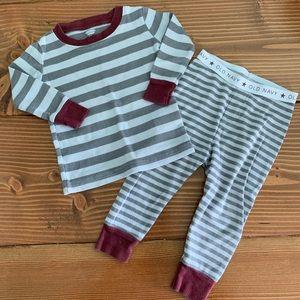 OLD NAVY Striped 2pc Long Sleeve Pajama Set 12-18m